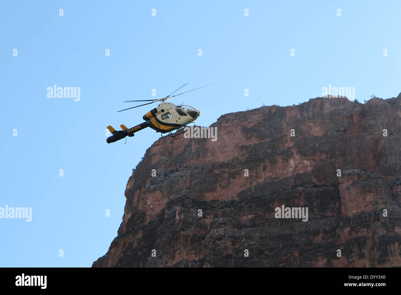 Touristic helicopter in Grand Canyon - Stock Image