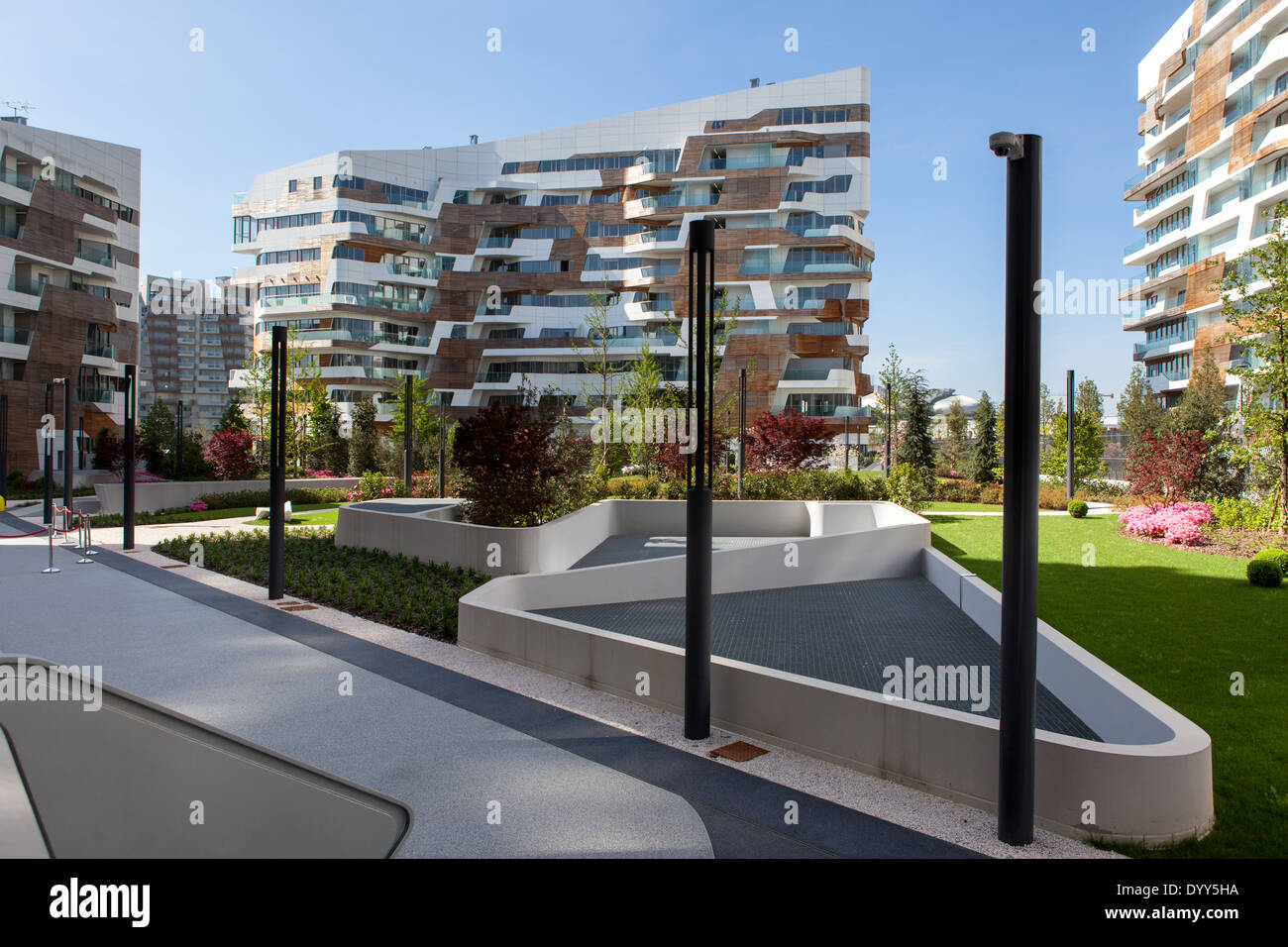 Zaha Hadid Residences at Citylife, a new residential and business district in Milan, Italy. - Stock Image
