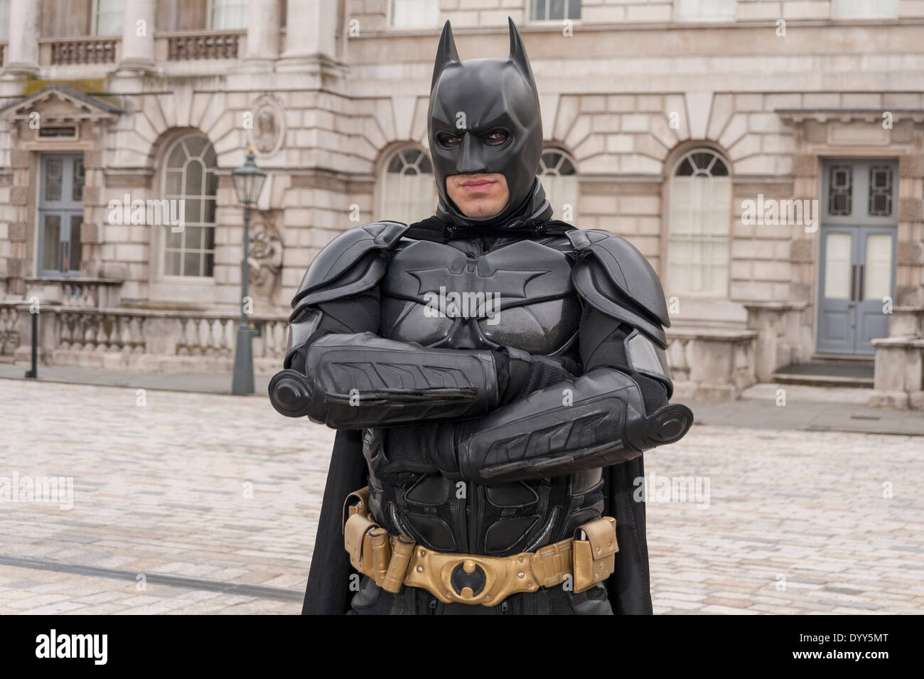 London, 27 April 2014 - people dressed as their favourite sci-fi characters take part in the Sci-Fi London 2014 costume parade starting at Somerset House and finishing at the BFI on the South Bank.  A man dressed as the character, Batman.      Credit:  Stephen Chung/Alamy Live News - Stock Image