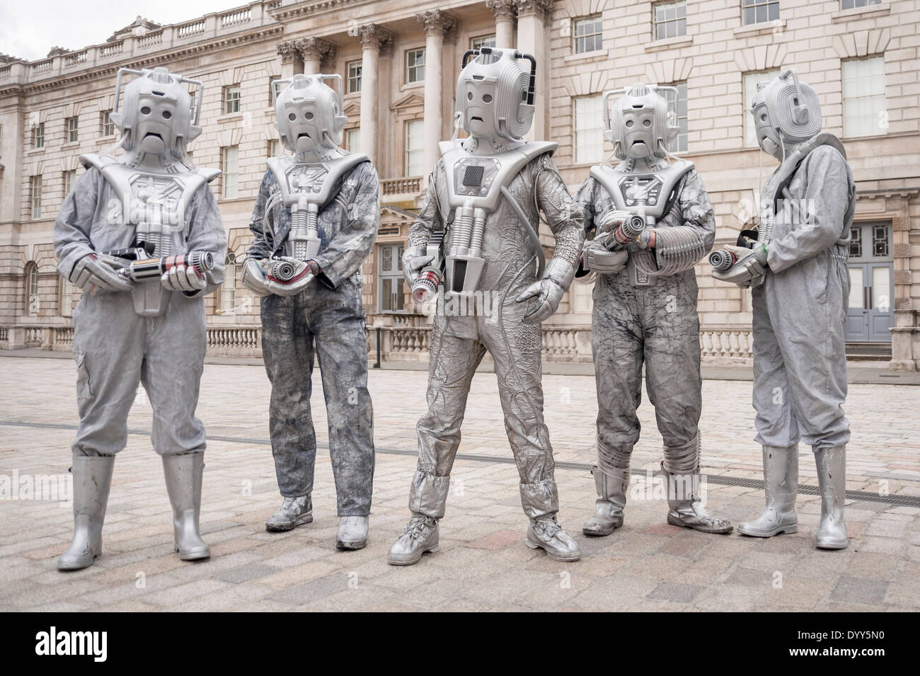 London, 27 April 2014 - people dressed as their favourite sci-fi characters take part in the Sci-Fi London 2014 Stock Photo