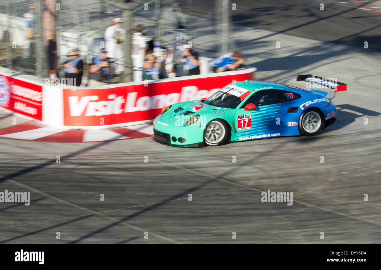 Porsche Long Beach >> Porsche 911 Gt3 Rsr Entering Turn 11 At The Long Beach Grand