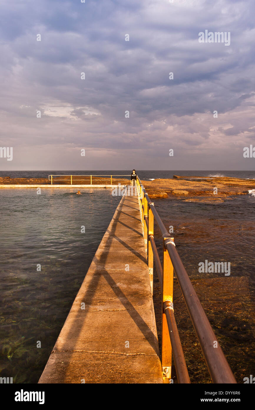 Ocean tidal pool built natural stock photos ocean tidal for Pool builders yamba