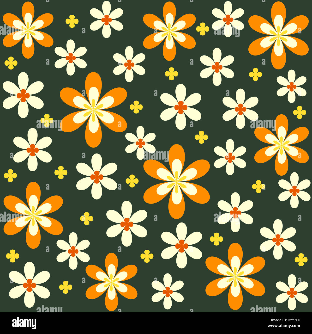 Colorful bright floral pattern Stock Photo