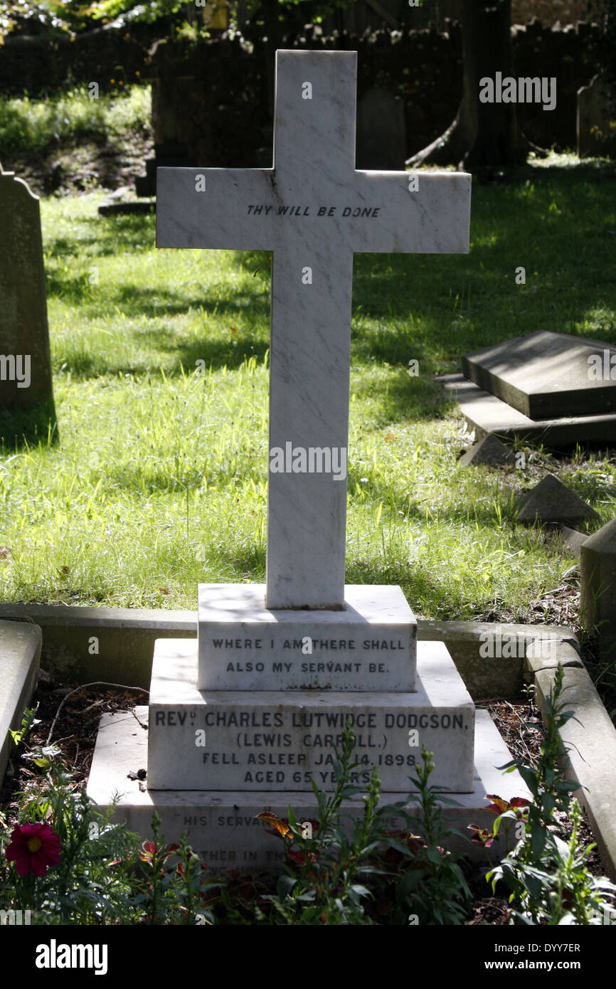 The grave and final resting place of Author Lewis Carroll - Stock Image