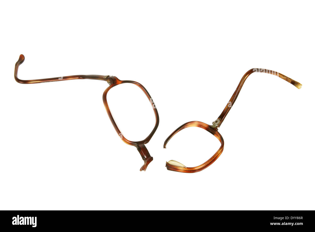 Broken Eyeglasses - Stock Image