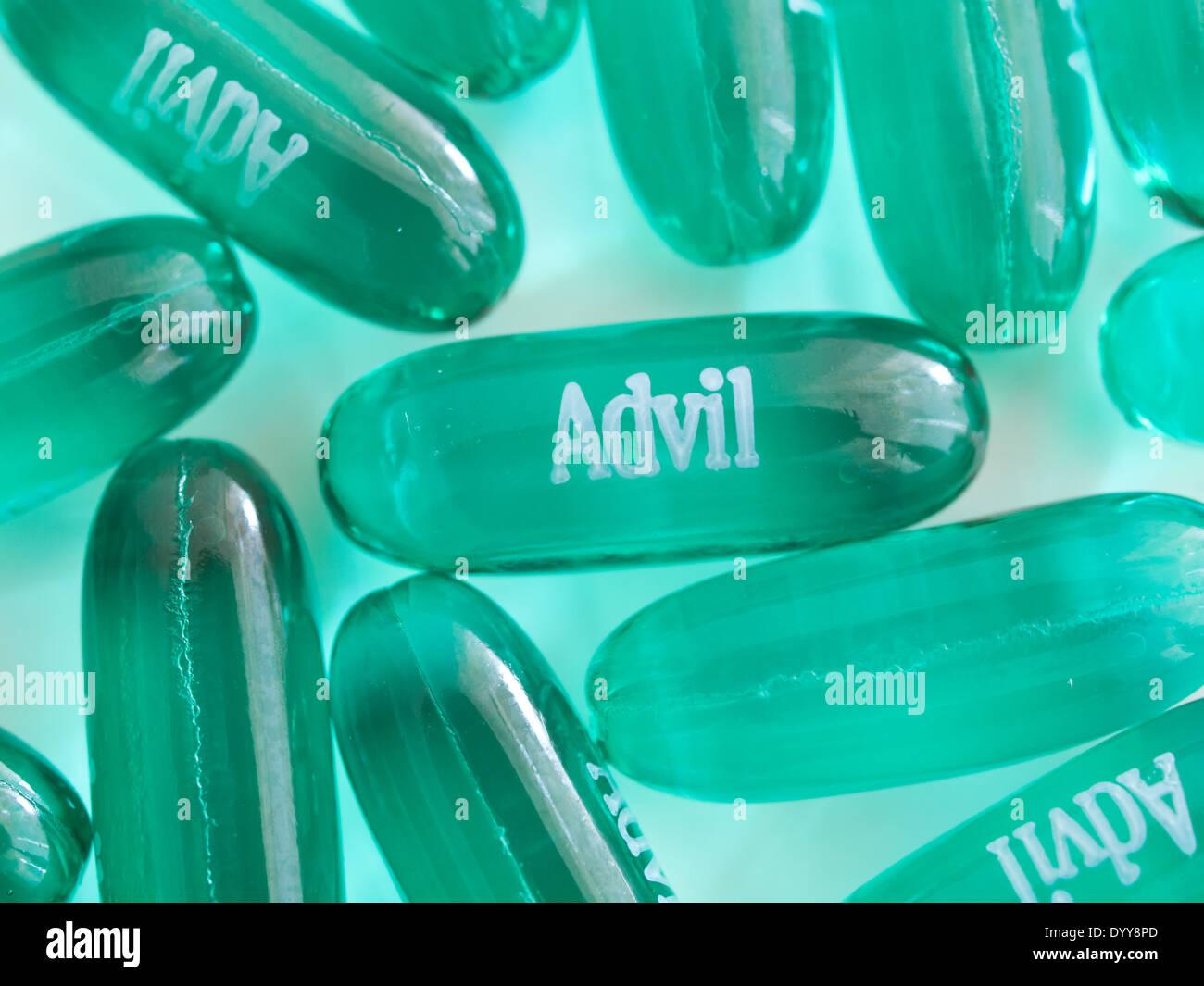 advil liqui-gel capsules stock photo: 68826421 - alamy