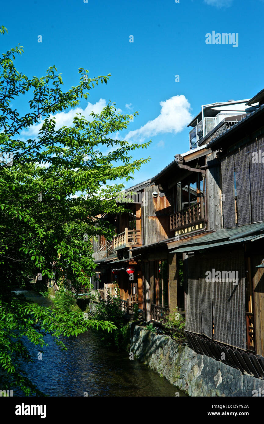 Shirakawa-minami-dori, One of the most beautiful and at the same time the most typical Japanese places - Stock Image