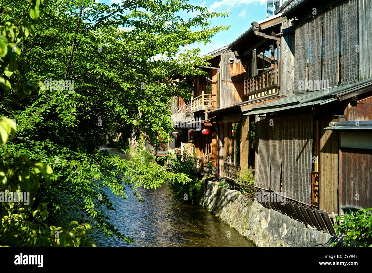 Shirakawa-minami-dori, One of the most beautiful and at the same time the most typical Japanese places Stock Photo