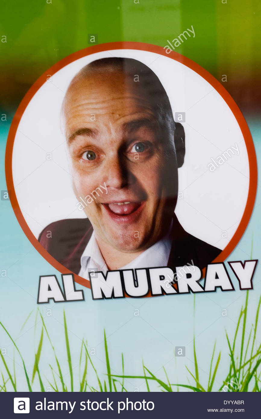 poster advertising Al Murray, at the Royal Shakespeare theatre Stock Photo