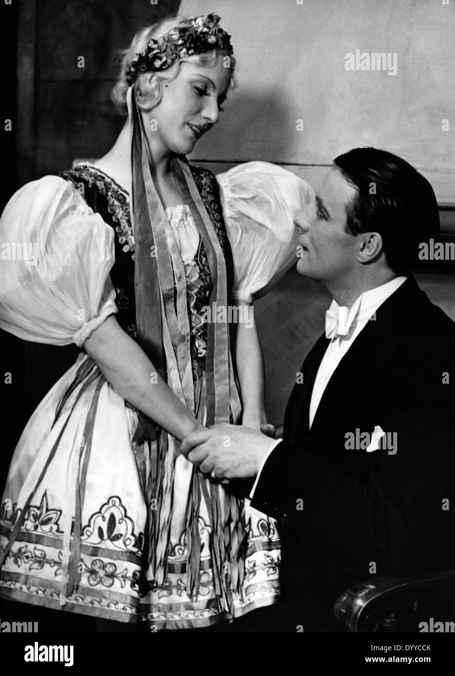 Edith d'Amara and Johannes Heesters, 1935 - Stock Image