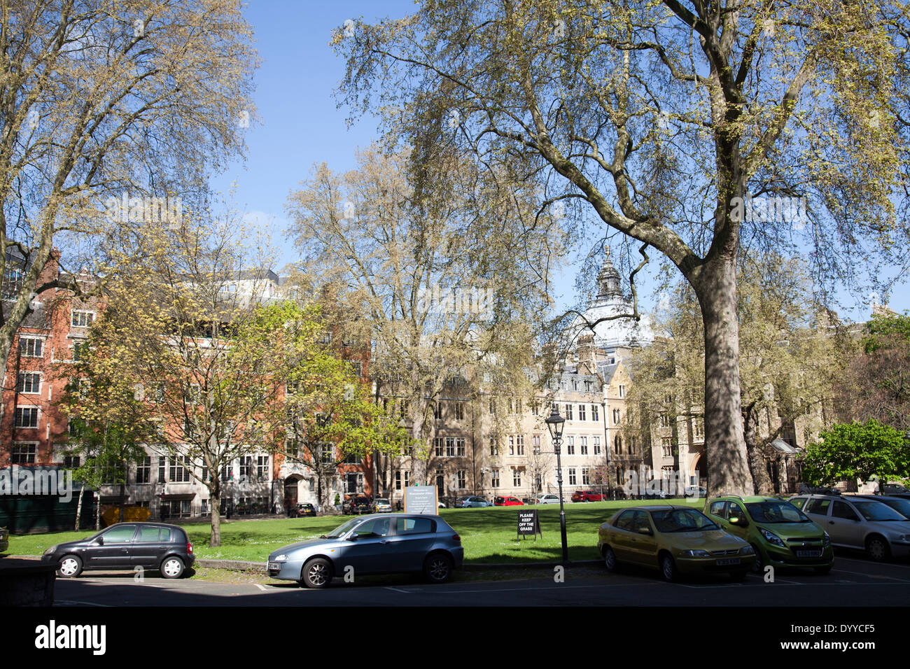 Deans Yard in Westminster - London W1 - UK - Stock Image