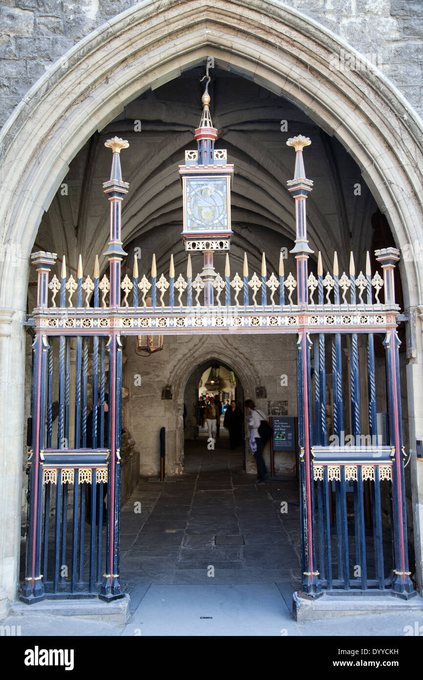 Westminster Abbey Gate on Dean's Yard in Westminster - London UK - Stock Image