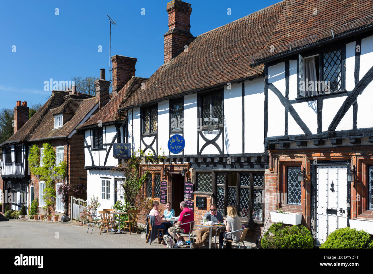 Shelleys Tearooms in the Pretty Village of Chilham nr Canterbury Kent Stock Photo