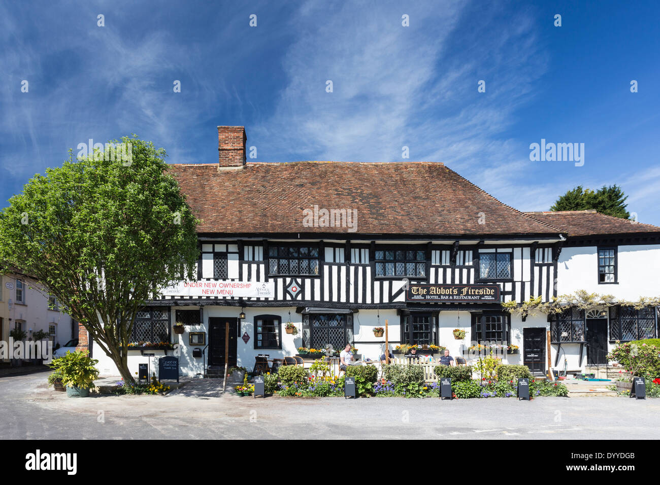 The Abbots Fireside Hotel in the Pretty Village of Elham Kent - Stock Image