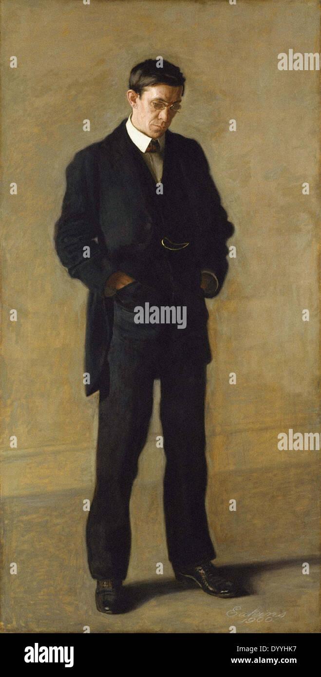 Thomas Eakins The Thinker - Portrait of Louis N. Kenton - Stock Image