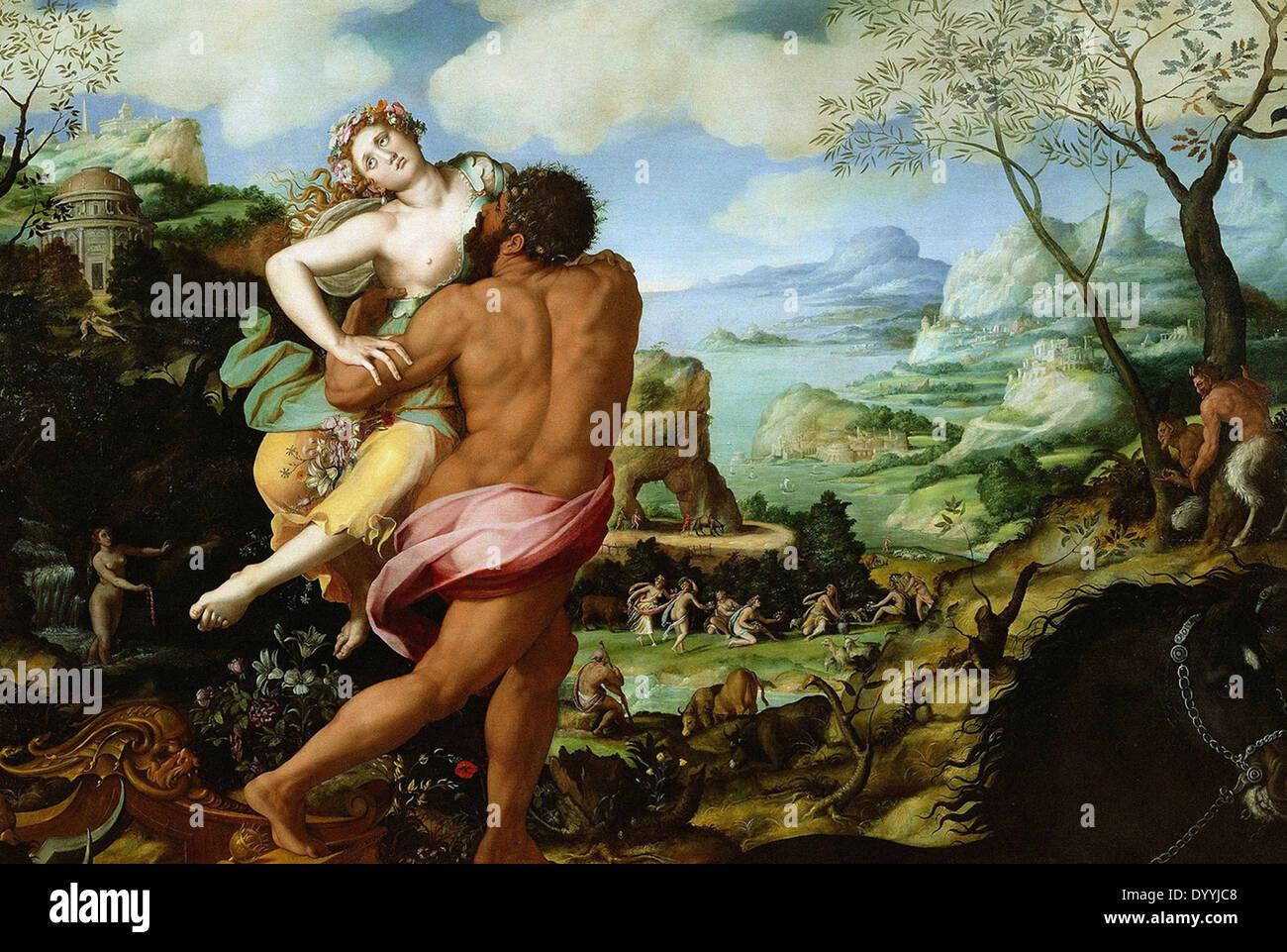 Alessandro Allori The Abduction of Proserpine - Stock Image