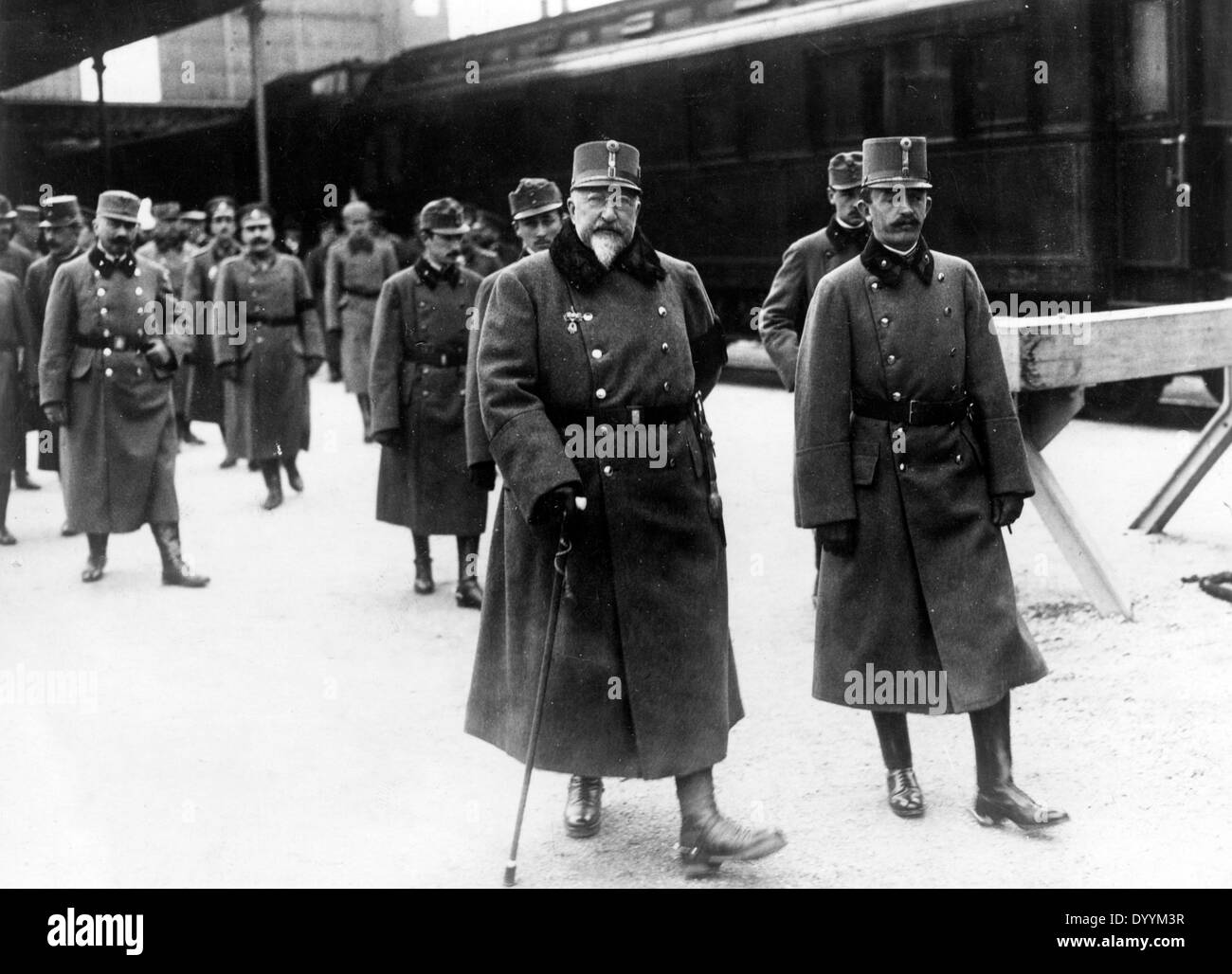King Ferdinand and Emperor Charles I., 1917 - Stock Image