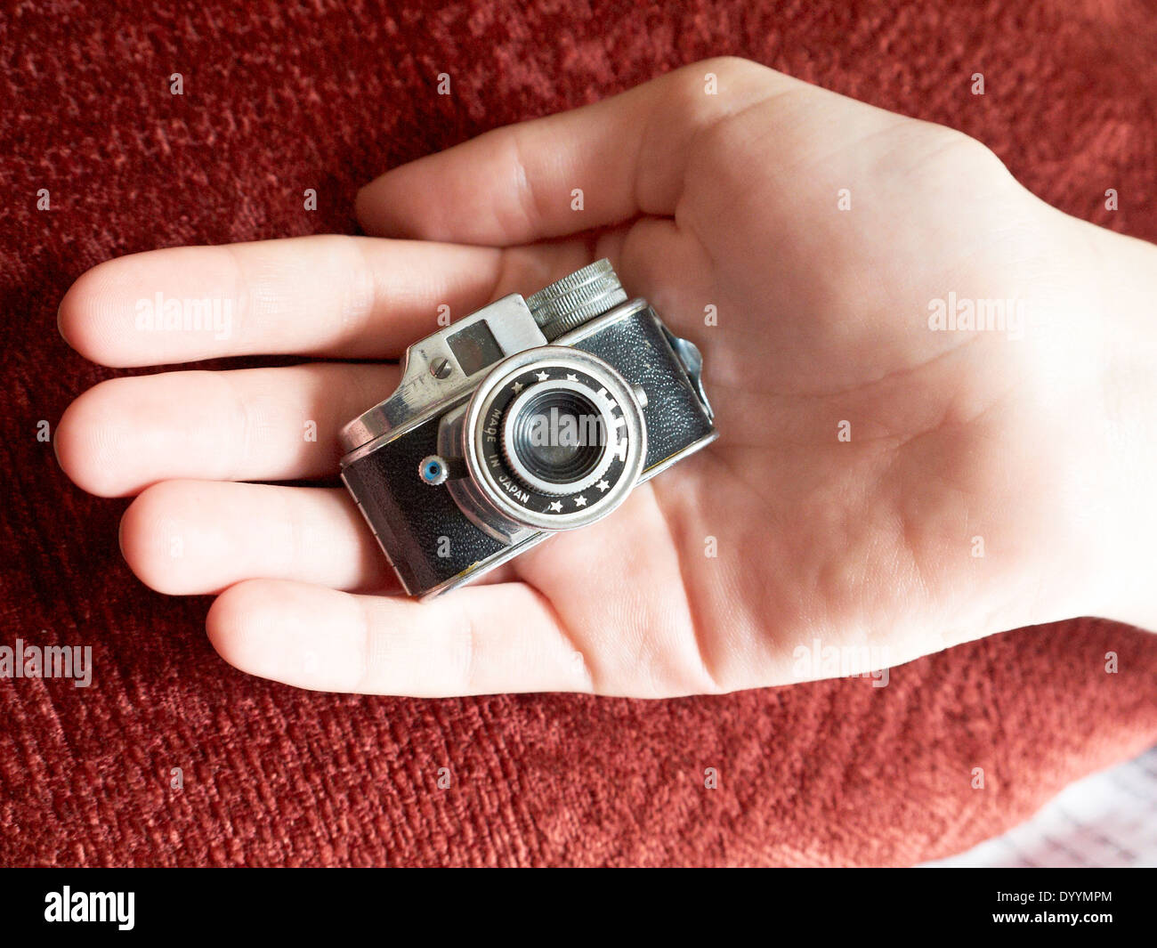 The world smallest analog working camera, if you can get the film for it. - Stock Image