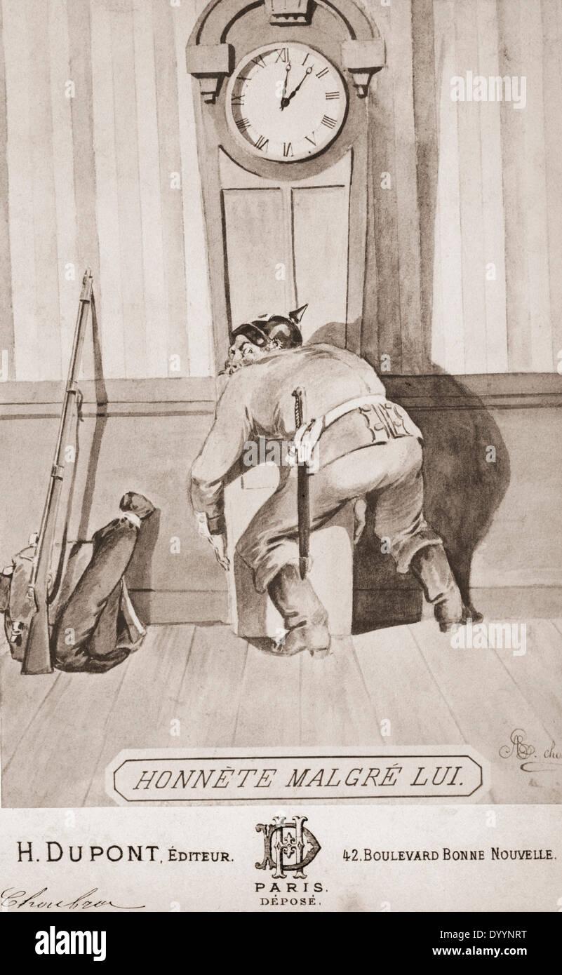 French war propaganda to the Franco-Prussian War, 1870/1871 Stock Photo