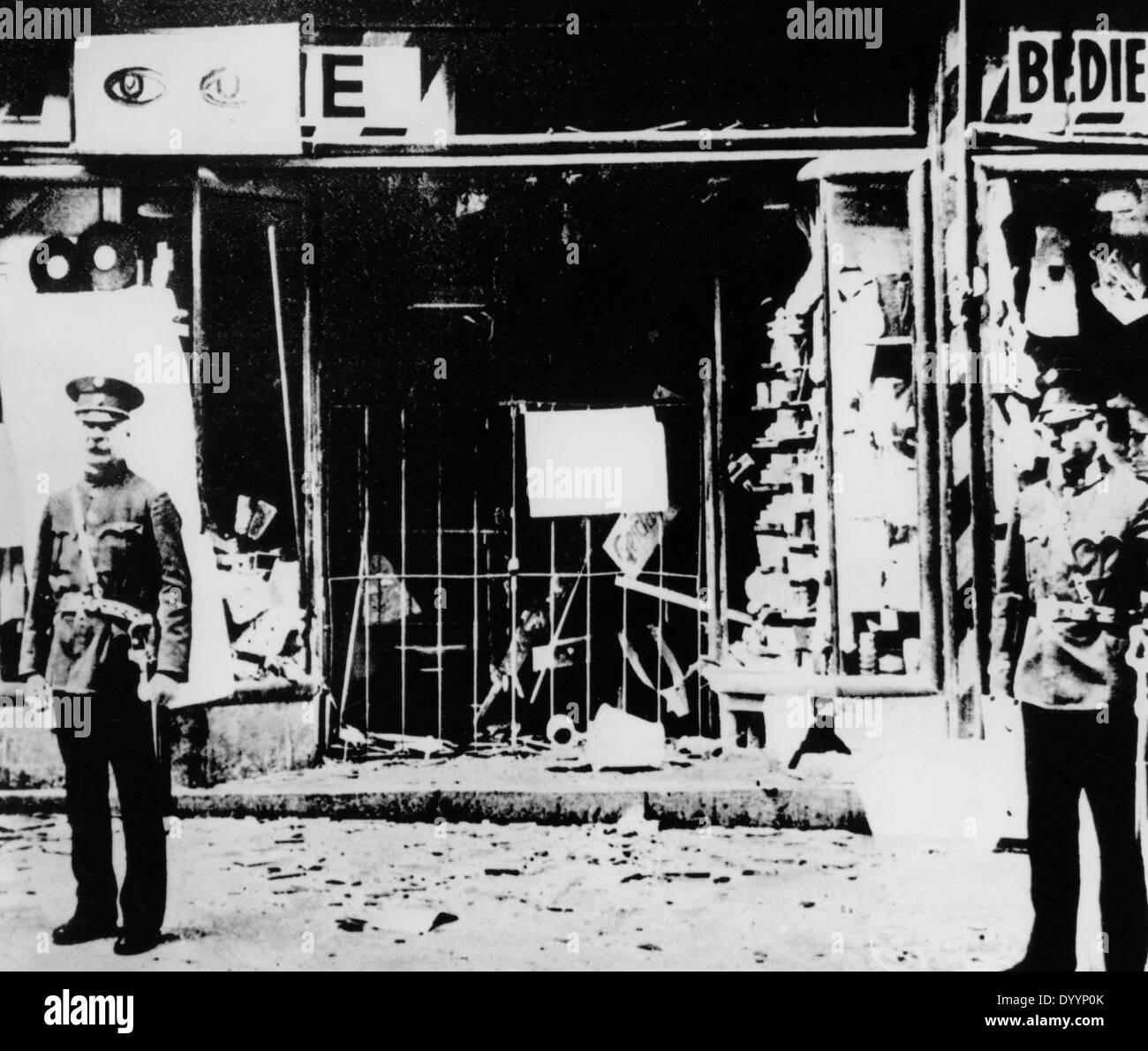 Demolished Jewish store in Vienna, 1938 - Stock Image