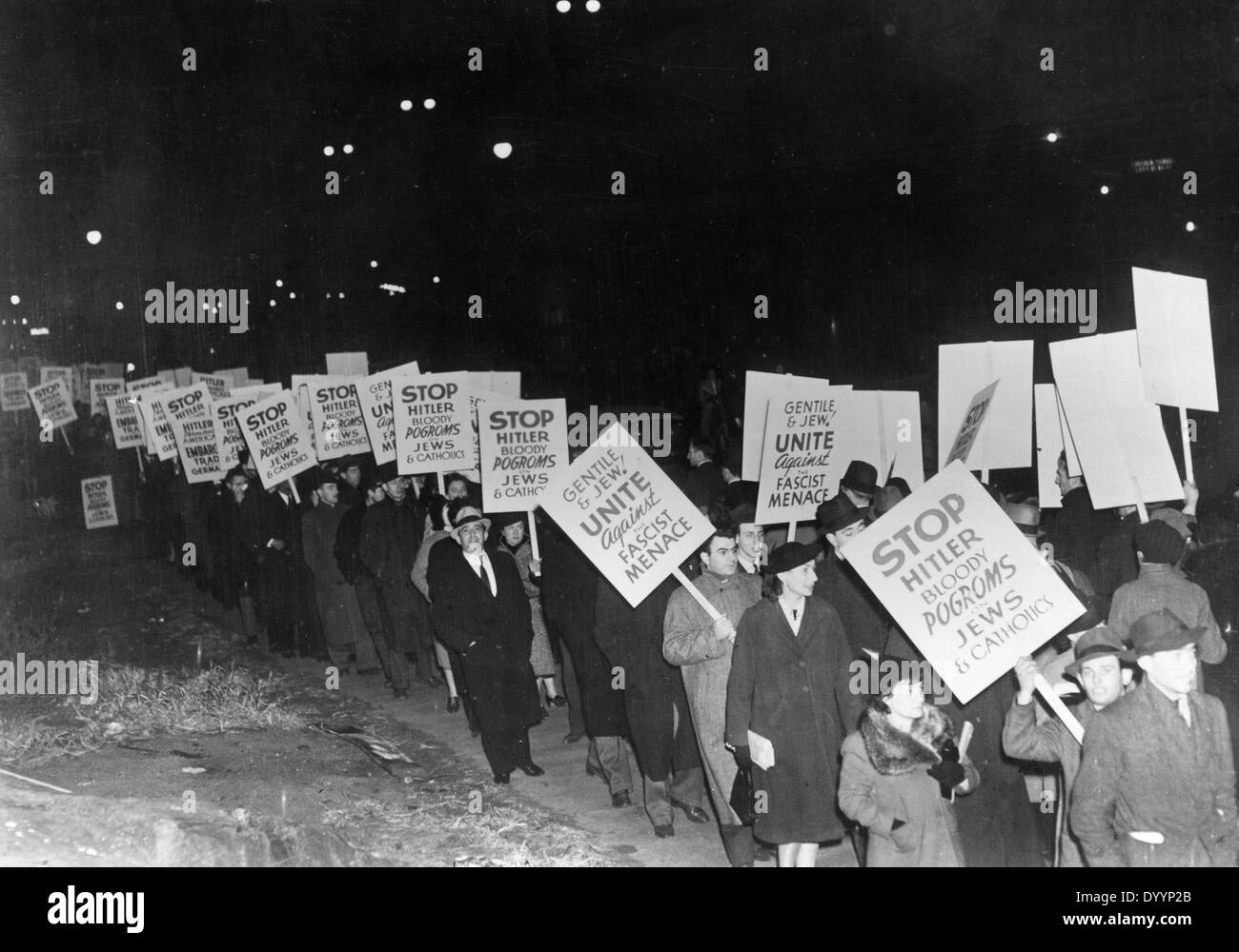 Protest in New York against the persecution of Jews - Stock Image