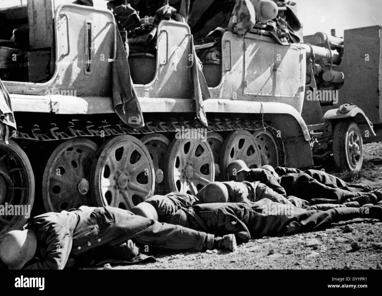 Military action on the egytian border, battle of El Alamein, 1942 - Stock Image