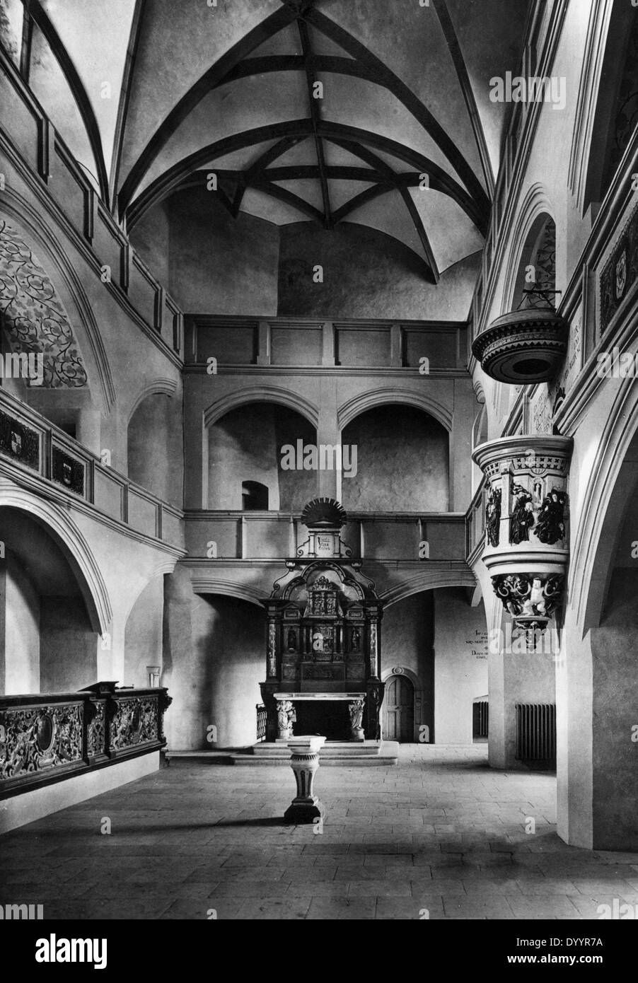 A castle chapel in Torgau, 1931 Stock Photo