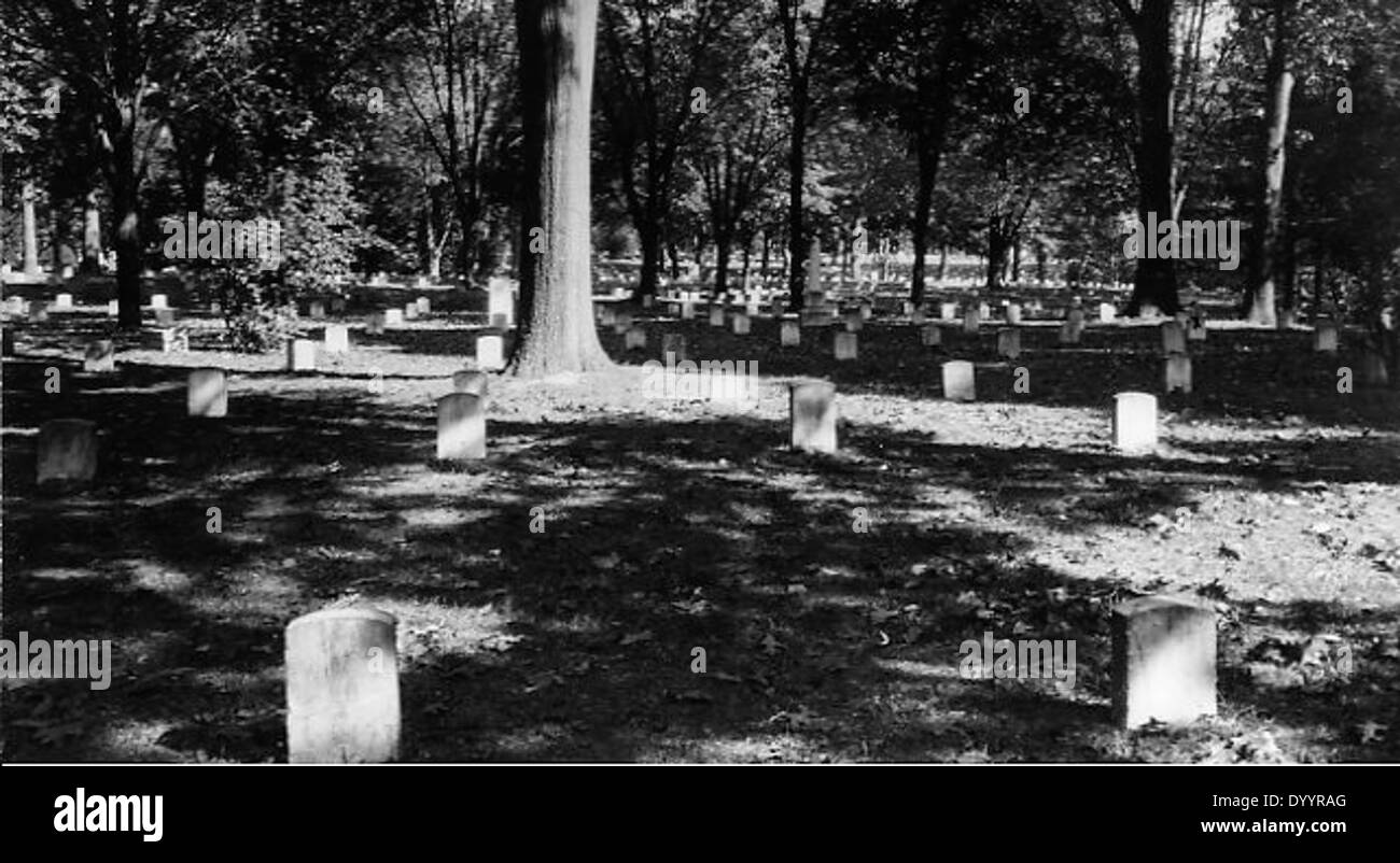 Image of the gravesites of Union soldiers in Arlington National Cemetery - Stock Image