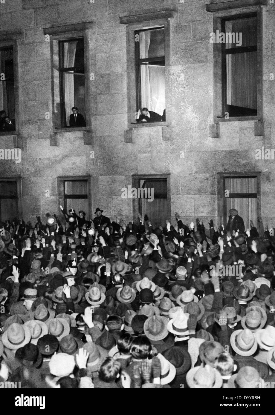 Torchlight procession in Berlin 30.01.1933 - Stock Image