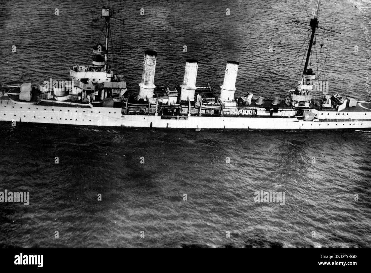SMS Nuremberg on the high seas Stock Photo