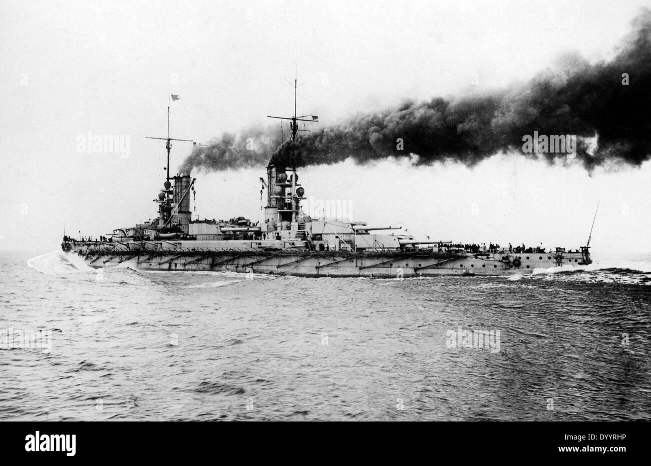 SMS Koenig Albert, 1916 - Stock Image