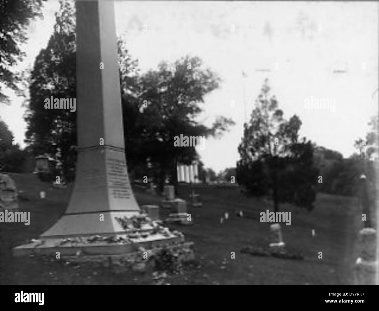 View of gravesites near Arlington House - Stock Image