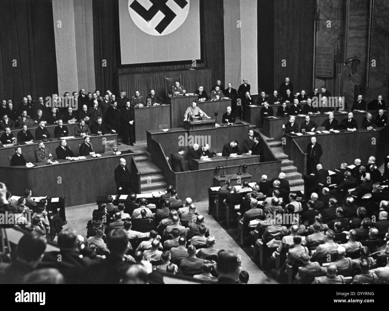 HItler in the Reichstag, 1933 - Stock Image