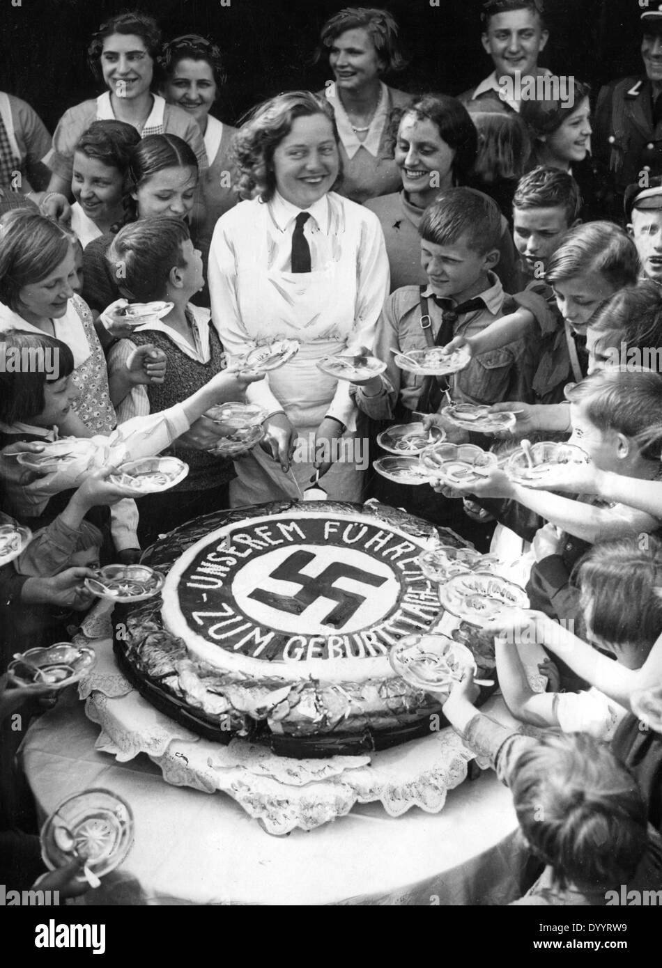 Phenomenal Cake For Hitler 1933 Stock Photo 68838261 Alamy Funny Birthday Cards Online Alyptdamsfinfo