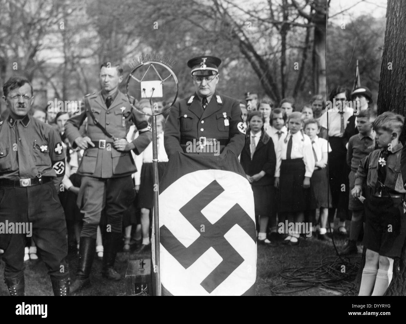 Promotional event of the NSDAP, 1933 - Stock Image