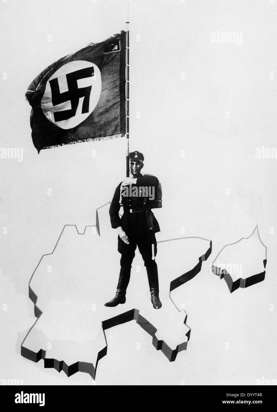 Propaganda poster of the SS, 1934 - Stock Image