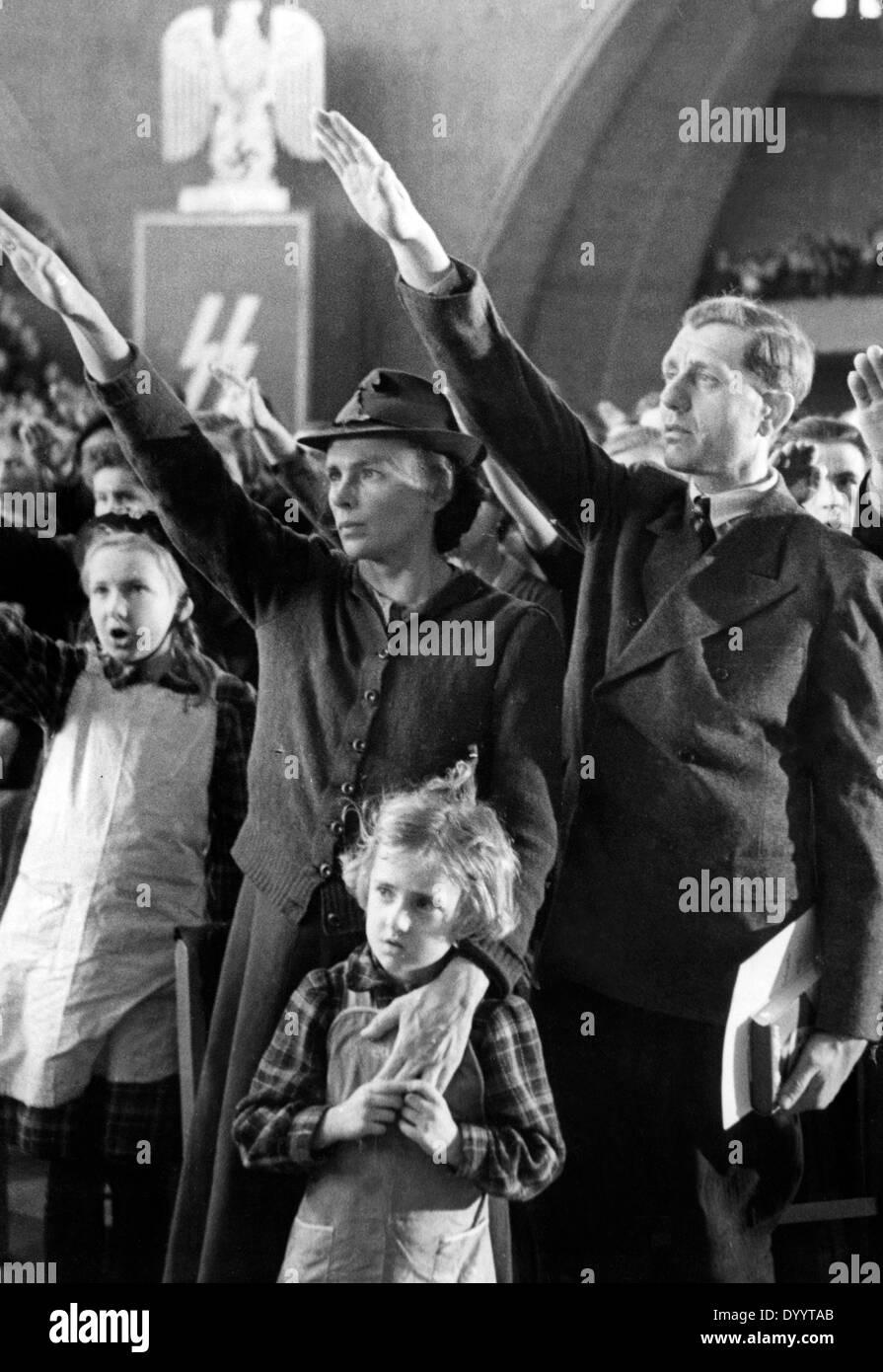 Naturalization of Bokovina Germans, 1941 - Stock Image