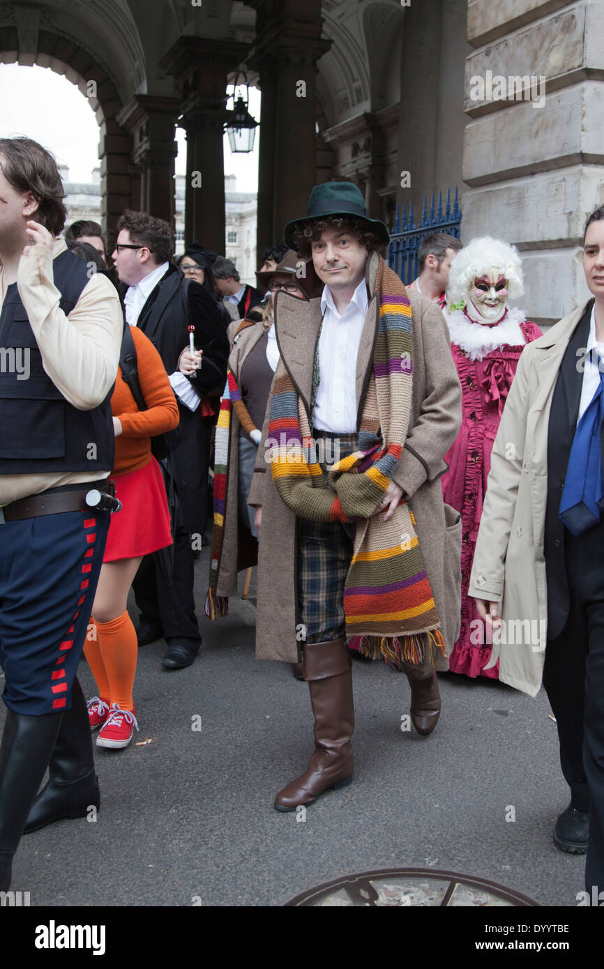 Sci-Fi London Annual Costume Parade at Somerset House, London - Stock Image