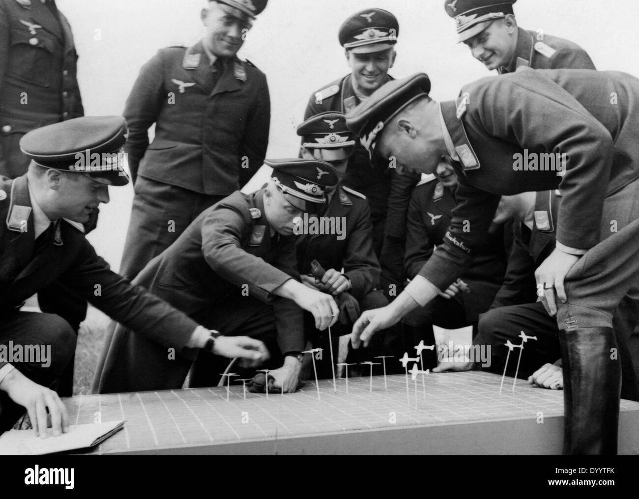 Officer training at the German airforce, 1936 - Stock Image