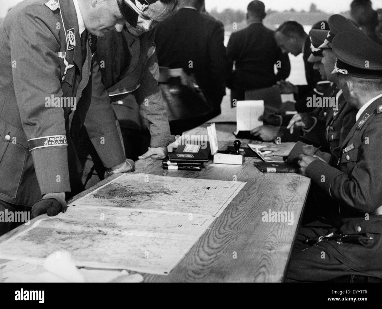 German flying competition 'Deutschlandflug', 1937 - Stock Image