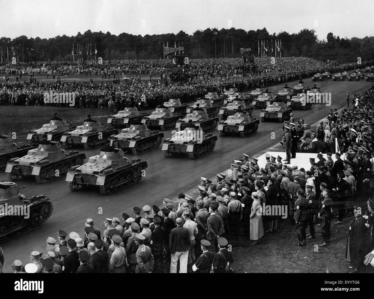 Tank parade at the 7th Nazi Party Congress, 1935 - Stock Image