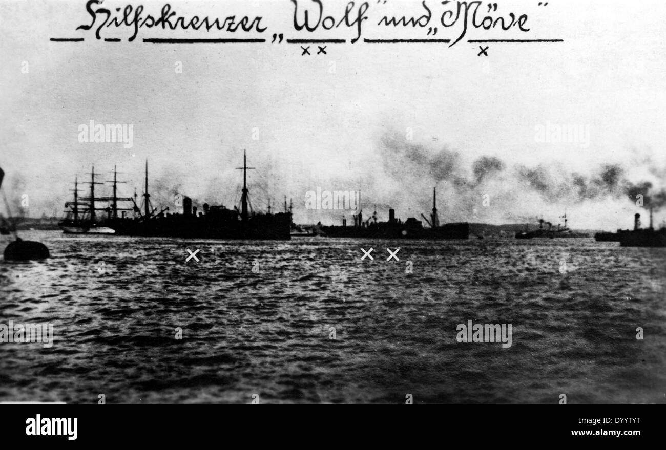 SMS Wolf and SMS Moeve - Stock Image