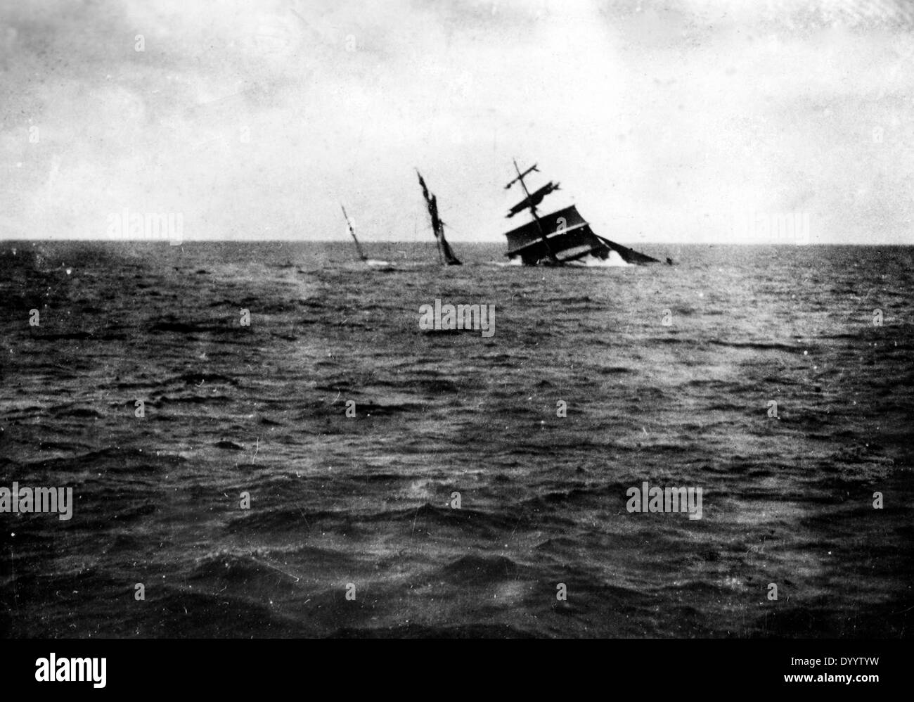 Sinking of the merchant ship 'John Kirby', 1918 - Stock Image