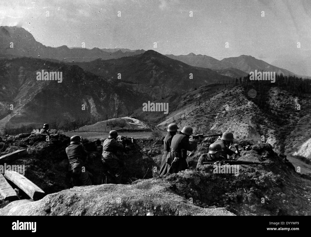 Occupation period in Yugoslavia - combating the partisans, 1941-1945 - Stock Image