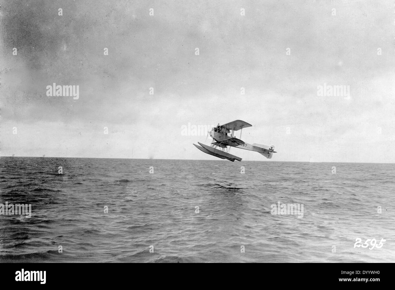 Starting German seaplane, 1917 Stock Photo