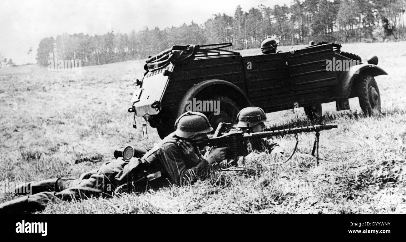 VW Kuebelwagen during a demonstration, 1942 - Stock Image