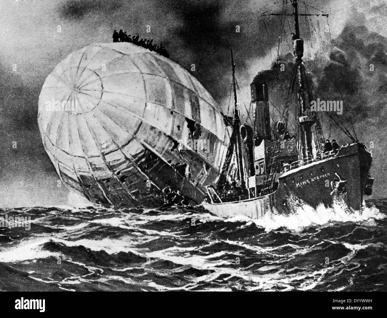 Sinking of L 19 - Stock Image