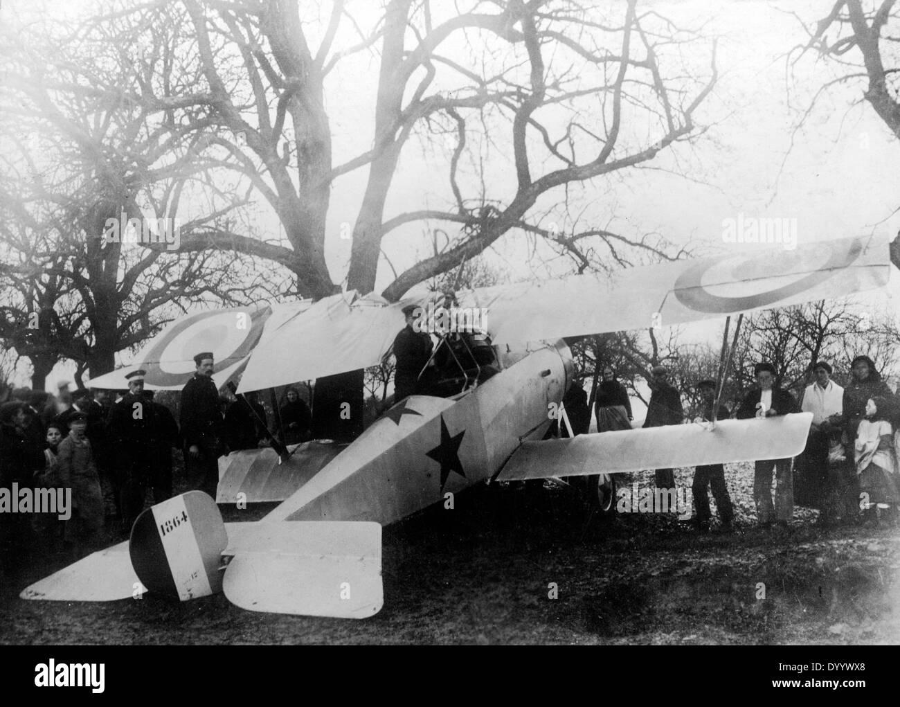 Emergency landing in World War I - Stock Image