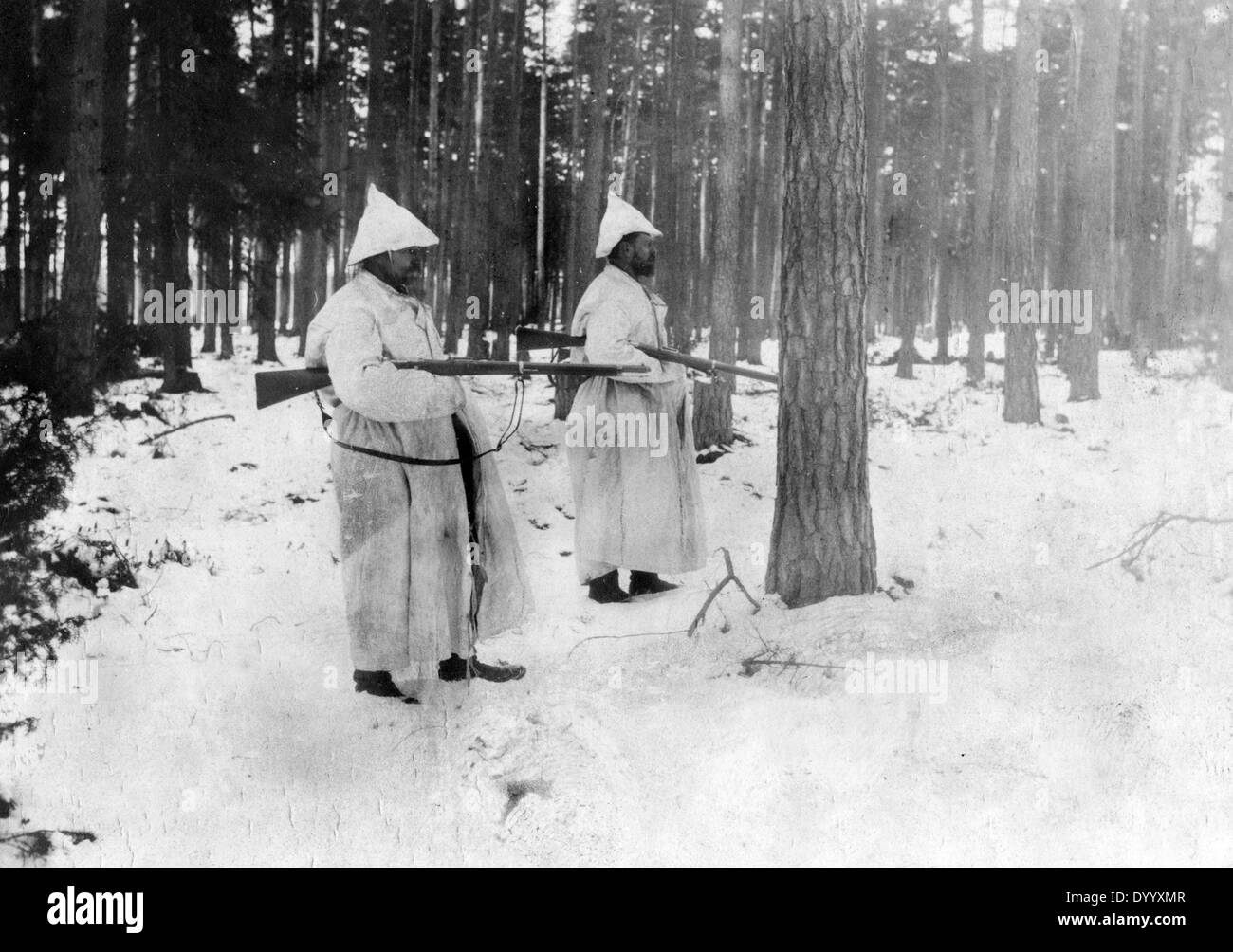 German soldiers on the Eastern Front, 1916 Stock Photo