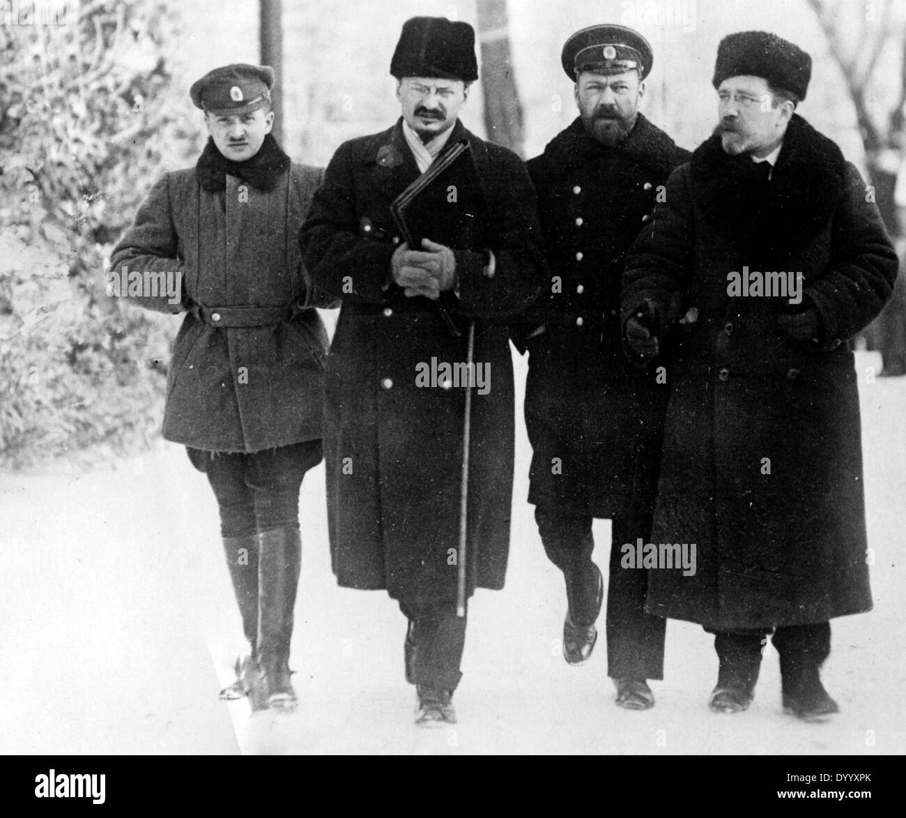 Soviet delegation in Brest-Litovsk, 1918 - Stock Image